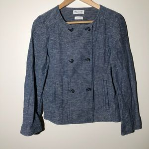 MADEWELL double-breasted denim style jacket SZ M